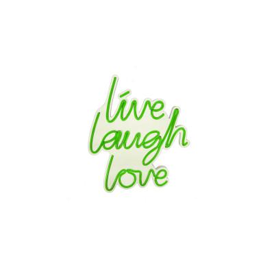 Neon Wandlampe Live Laugh Love | Grün