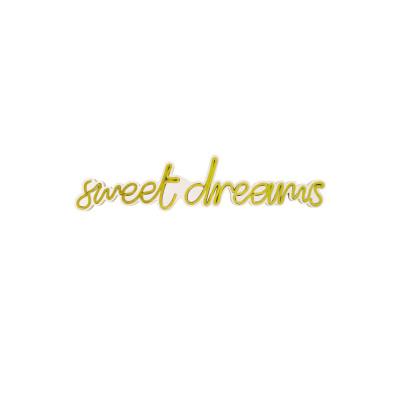 Neon Wandlampe Sweet Dreams | Gelb