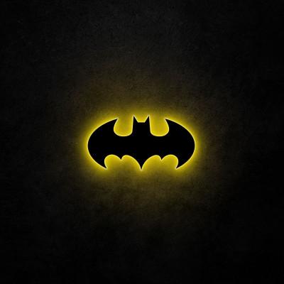 Neon-Wandleuchte Batman | Gelb