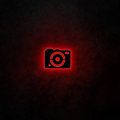 Neon-Wandlampe Kamera | Rot