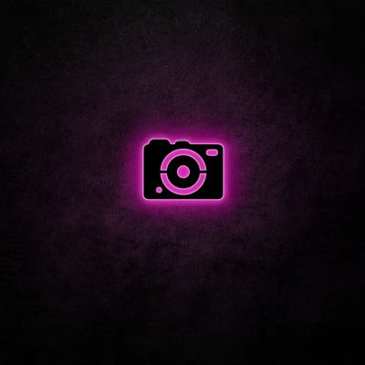 Neon-Wandlampe Kamera | Pink
