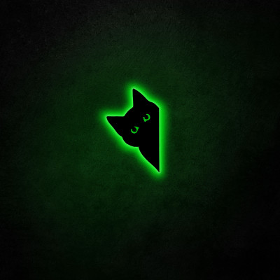 Neon-Wandleuchte Cat 2 | Grün