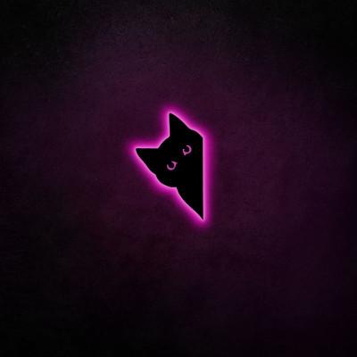 Neon-Wandleuchte Cat 2 | Rosa