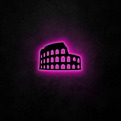 Neon-Wandleuchte Kolosseum | Rosa