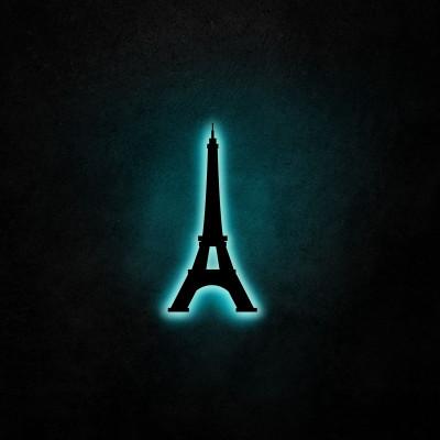 Neon-Wandleuchte Eiffelturm | Blau