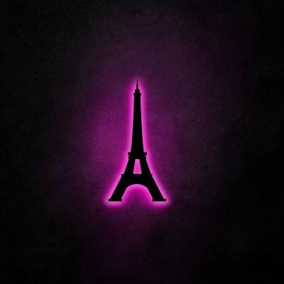 Neon-Wandleuchte Eiffelturm | Rosa