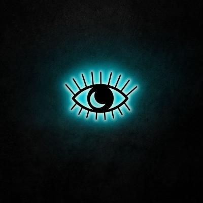 Neon-Wandleuchte Evil Eye | Blau