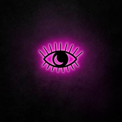 Neon-Wandleuchte Evil Eye | Rosa