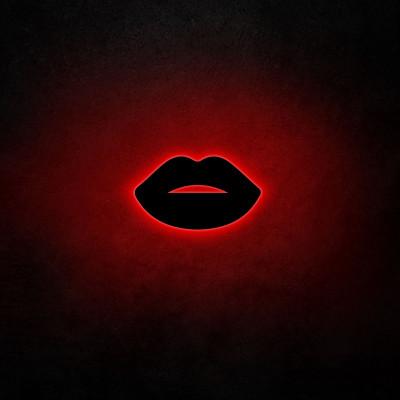 Neon Wandleuchte Lips 2 | Rot