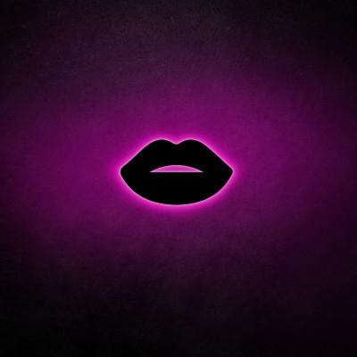 Neon Wandleuchte Lips 2 | Pink