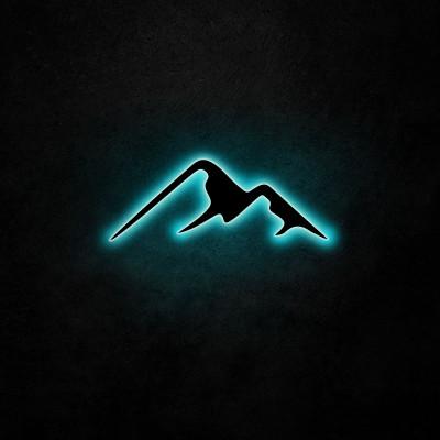 Neon Wandleuchte Berg | Blau