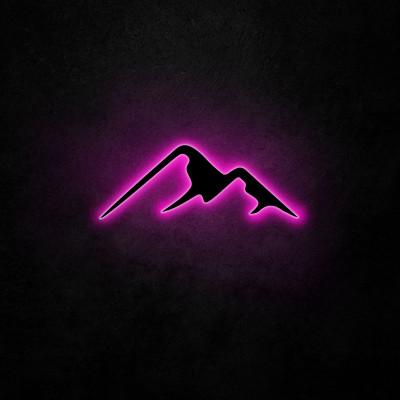 Neon Wandleuchte Berg | Rosa