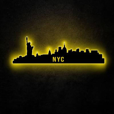 Neon-Wandleuchte NYC Skyline | Gelb