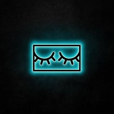 Neon-Wandleuchte Sleepy Eyes | Blau