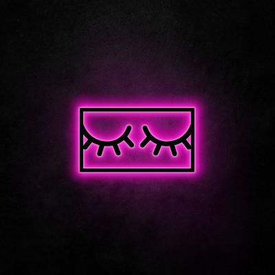 Neon-Wandleuchte Sleepy Eyes | Rosa