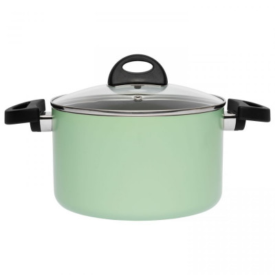 Suppentopf mit Deckel 20 cm | Grün