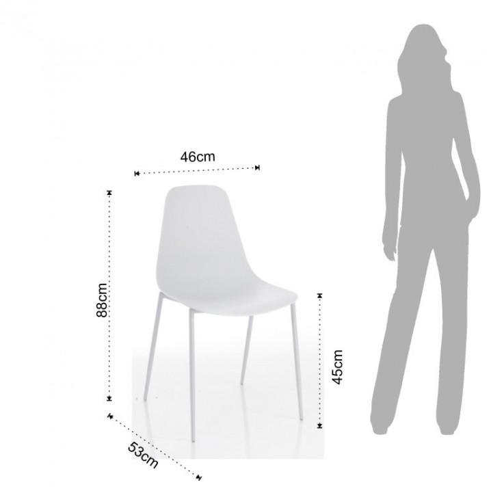 Set de 4 | Chaise Oslo | Blanc