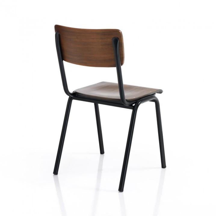4er-Set Stuhl Old School | Dunkelholz