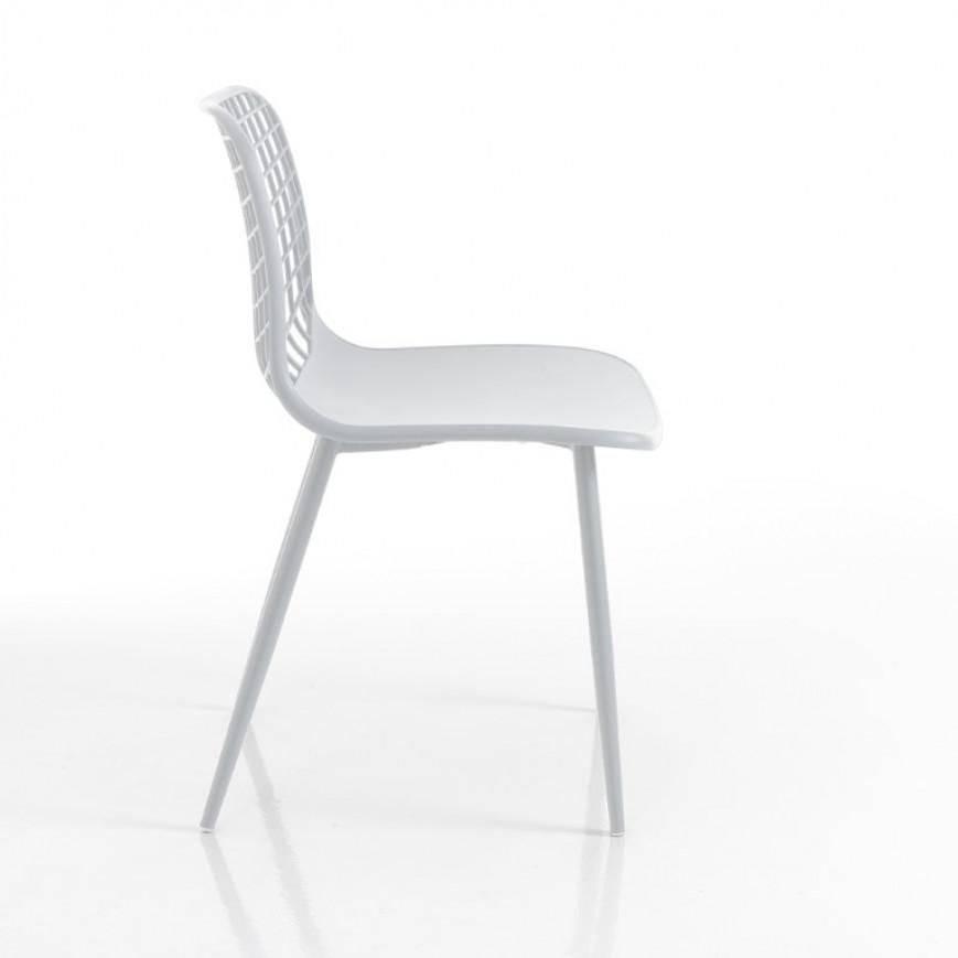 4-er Set Innen-/Außenstühlen Nairobi | Weiß