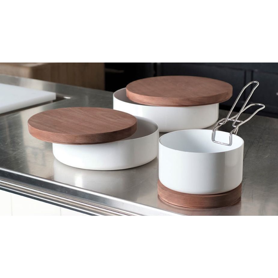 ABCT Low Casserolle Induction - Ø 24 cm | White