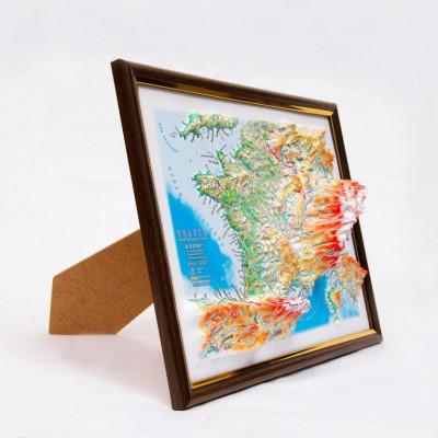 Decorative 3D Map with Panorama Effect Gift Edition   France
