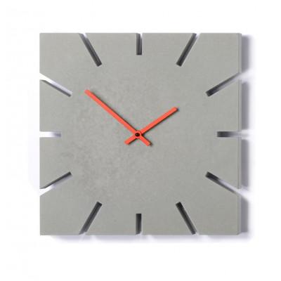 Zeitgeist Uhr Hellgrau | Rot