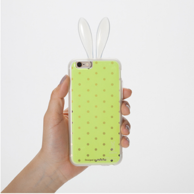 iPhone 6/S Layer Cover   Yellow dots
