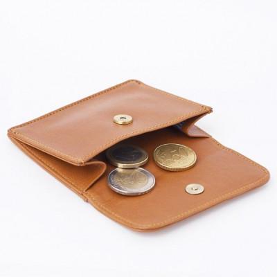 Brieftasche für Münzen und Kreditkarten | Karamell