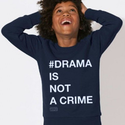 Kid's Sweater # DRAMA IS NOT A CRIME   Blue