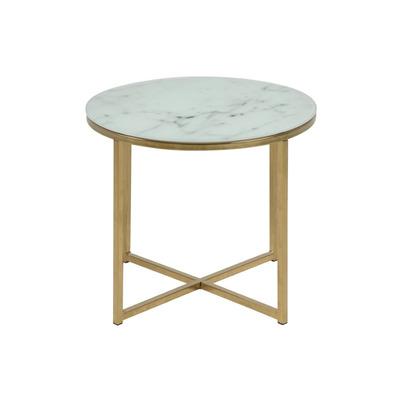 Couchtisch Alisma  Ø 50 | Weißer Marmor