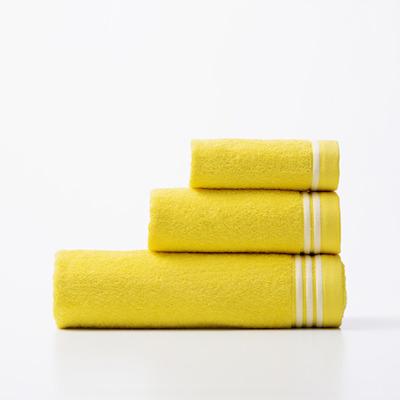 3er-Set Badetücher Rainbow Be I Gelb-Weiß
