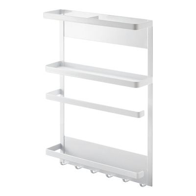 Magnetic Refrigerator Side Rack Tower | White