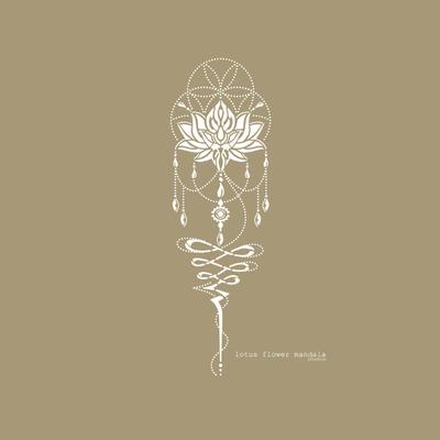Schablone Mandala   Lotus