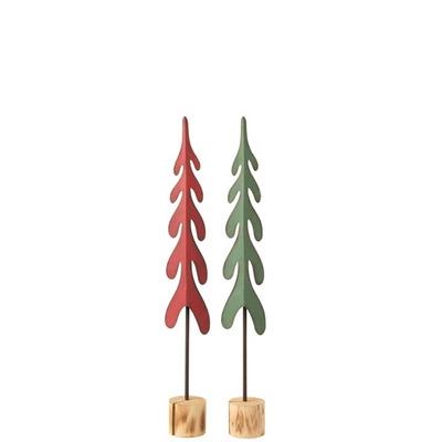 Weihnachtsbaum Tree on Foot | Rot-Grün
