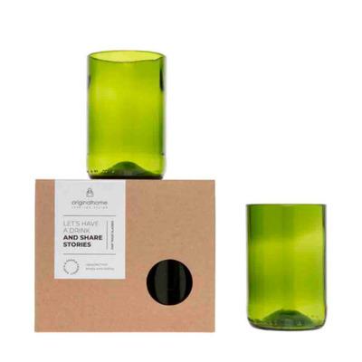 2er-Set Gläser   Grün - M
