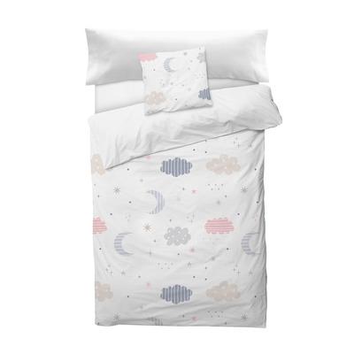 Bettbezug Moon I Weiß 155x220 + 110x45 cm
