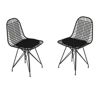 2er Set Stühle Kafes | Schwarz