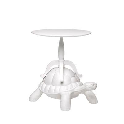 Abgenutzter Couchtisch Schildkröte | Weiss