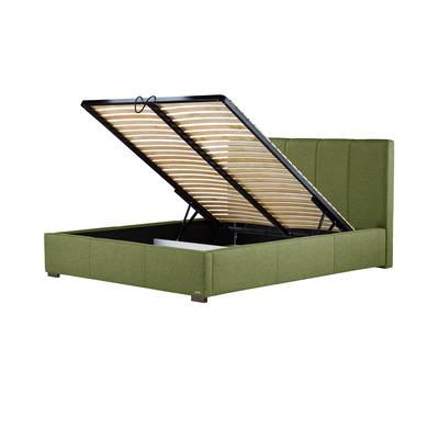 Gepolstertes Bett Onyx mit Staumöglichkeit | Olivgrün