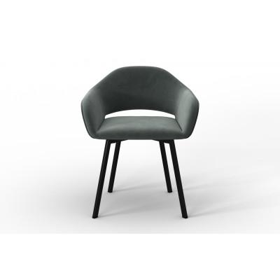 Stuhl Oldenburg | Grau-Samt Touch