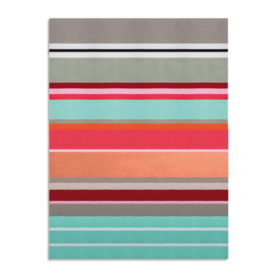 Knitted Cotton Blanket Stripe | Multicolour