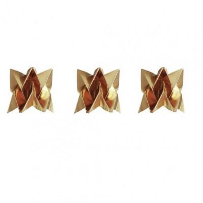 Set of 3 Tealights   3 x Gold