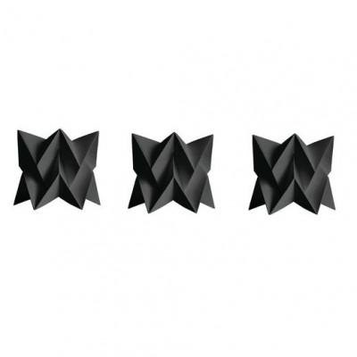 Set of 3 Tealights   3 x Black