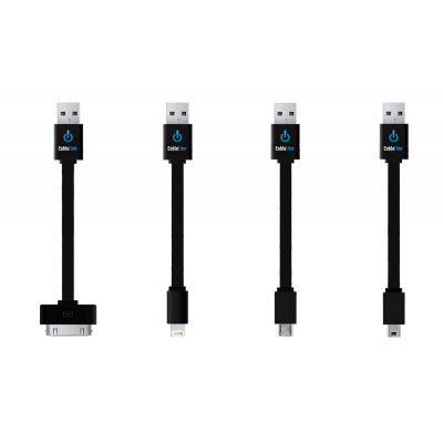 CableLinx™ Value Pack of 4 Charge/Sync Cables   Black