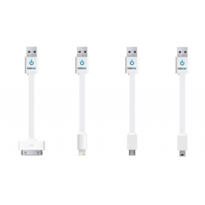 CableLinx™ Value Pack of 4 Charge/Sync Cables   White