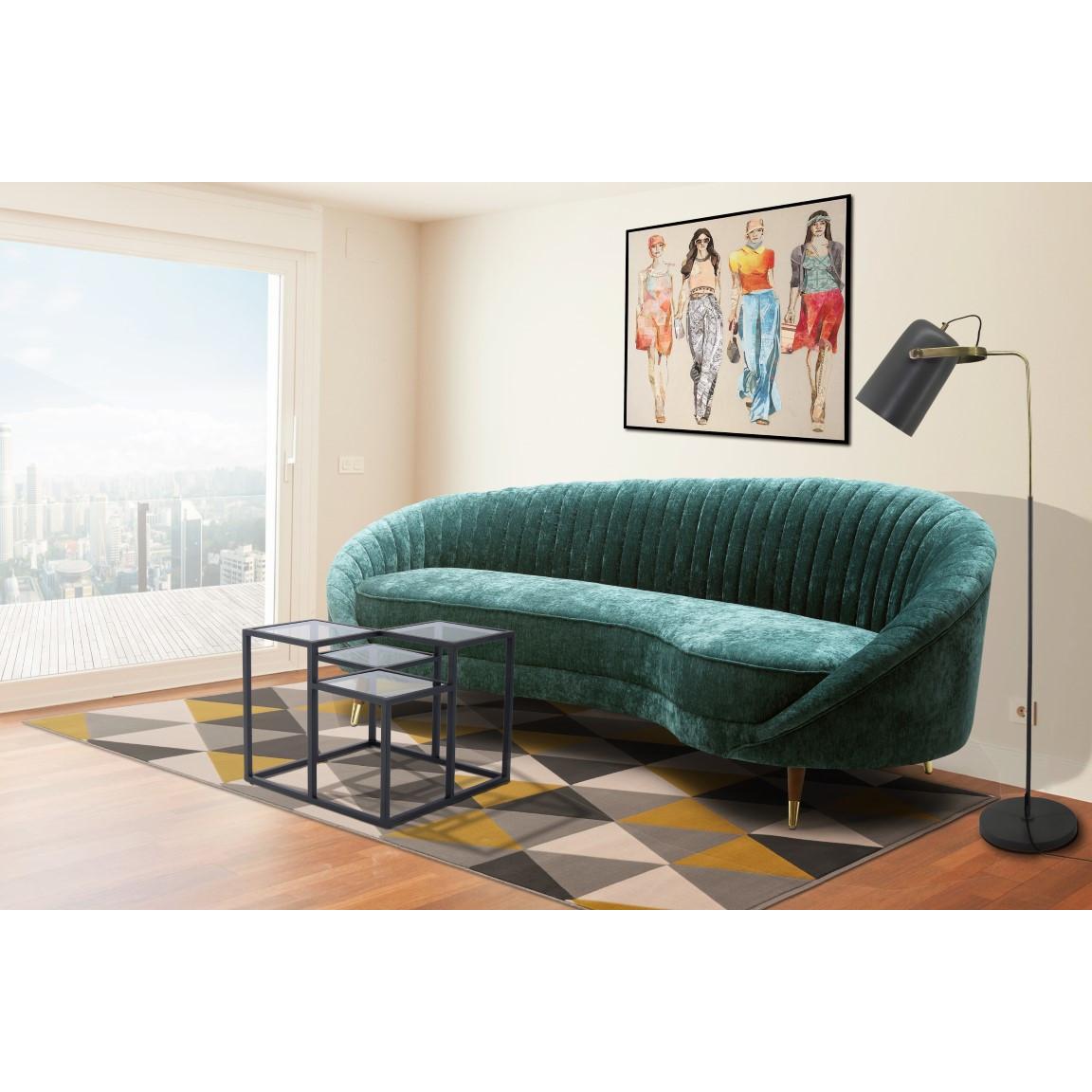 3-Sitzer-Sofa Caesar 333 | Benzinblau