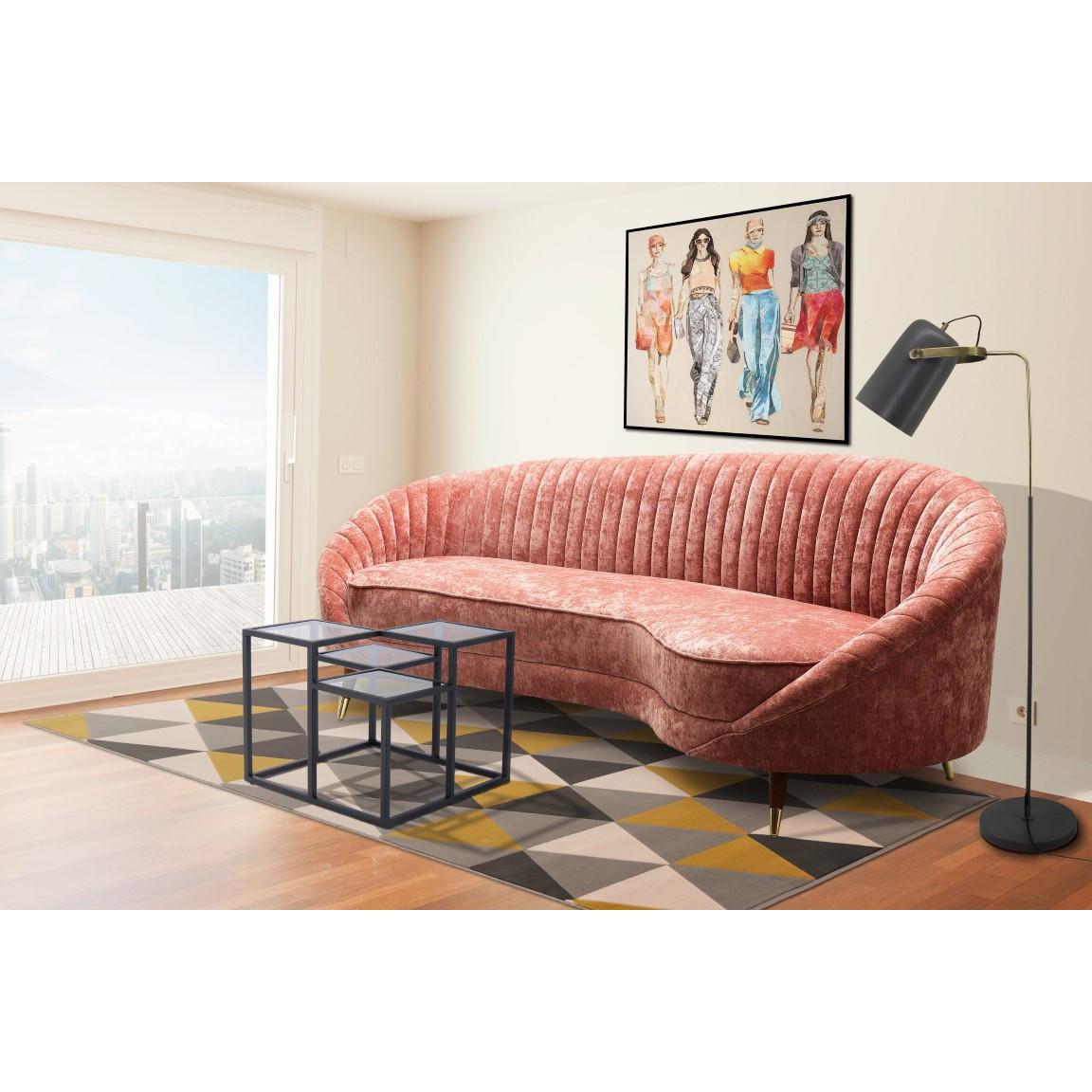 3-Sitzer-Sofa Caesar 333 | Rosa