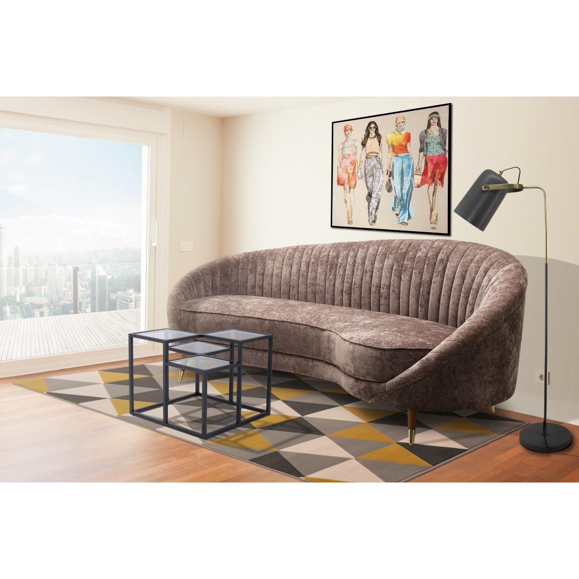3-Sitzer-Sofa Caesar 333 | Braun