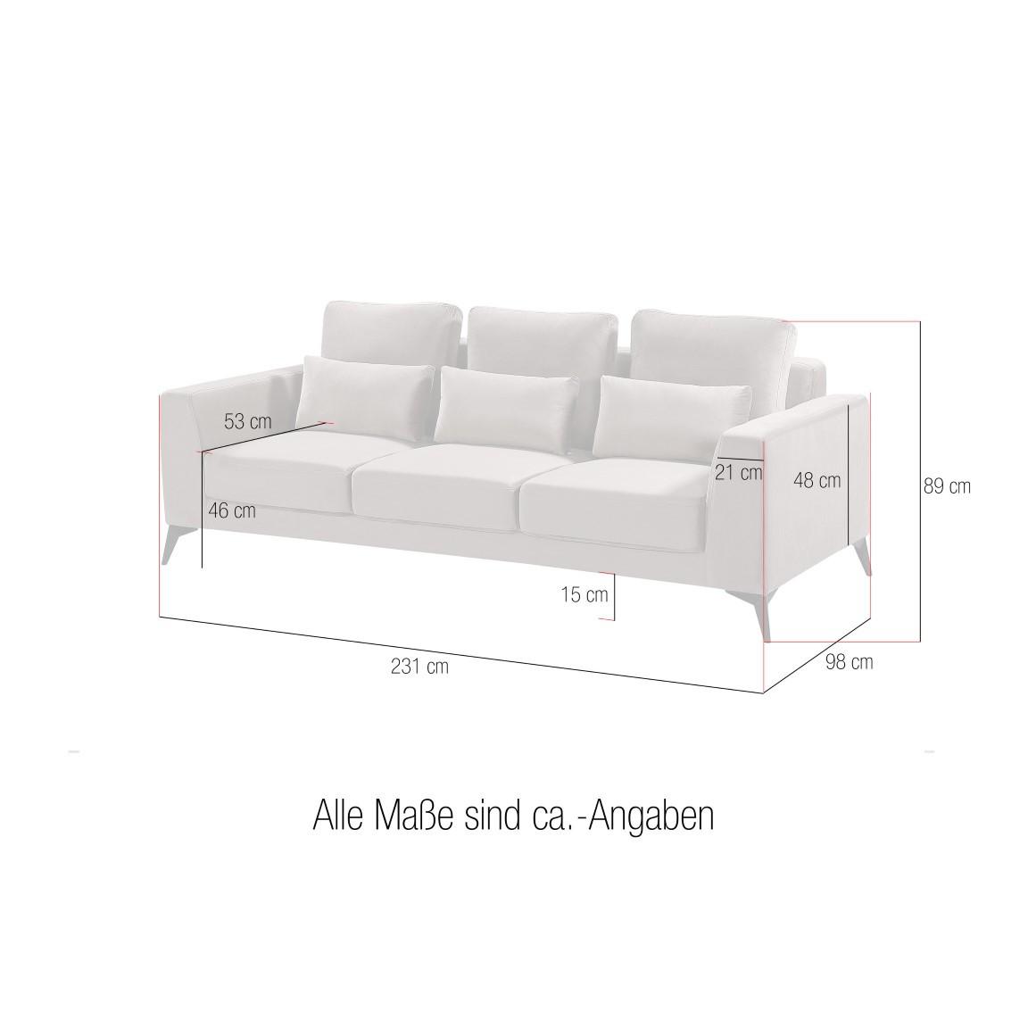 3-Sitzer-Sofa Olivier 533 | Dunkelgrau
