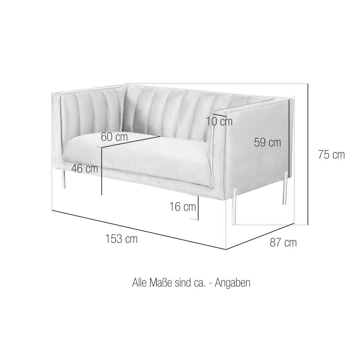 2-Sitzer-Sofa Pittsburgh 433 | Schwarz